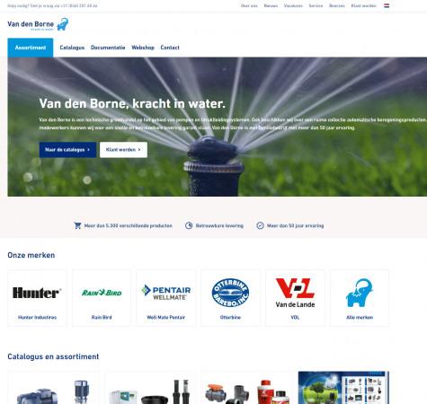 screenshot nieuwe website van den borne
